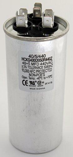 TradePro 40+5 MFD 440 Volt Round Capacitor TP-CAP-40/5/440R