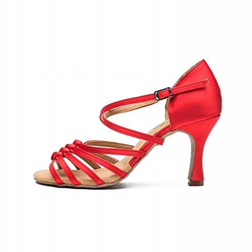 Ankle with Jazz Dance Modern Dance Leather BYLE Sandals Shoes Soft Shoes Strap Samba bottomred Adult Onecolor Latin Dance Shoes wWnEqYOY0