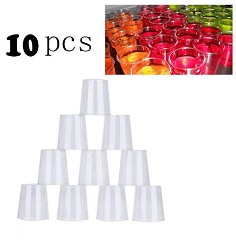 Sannysis Christmas Ornaments, 10PCS Clear Plastic Disposable Party Shot Glasses Jelly Cups Tumblers Birthday -