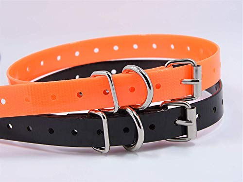 - TrainPro 2-Pack Replacement Dog Training Shock Bark e Collar TPU Plastic Strap Band Buckle 3/4