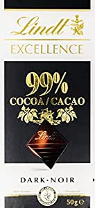 Lindt Excellence Dark Chocolate - 99% Cocoa (50g)