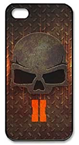icasepersonalized Personalized Protective Case for iPhone 5/5S - Game Call of Duty Black Ops 2 Skull