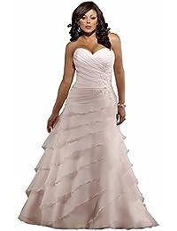 Amazon plus size wedding dresses wedding party clothing a line sweetheart court train tulle satin wedding dress junglespirit Gallery