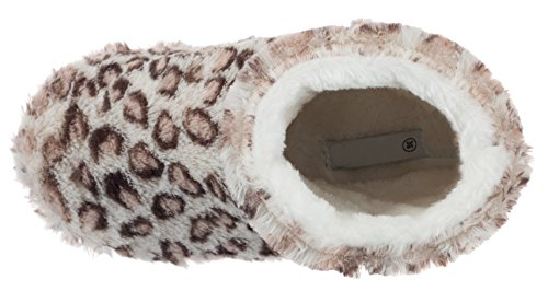 brandsseller Estar de Zapatillas Leopardo por para Material Sintético de Mujer casa Beige q44ZOa