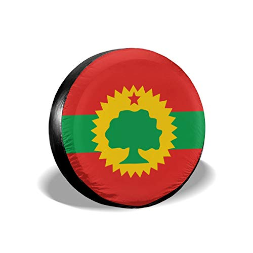 ZP-CCYF Flag of The Oromo Liberation Front Universal Fit Tire Covers Waterproof Dust-Proof Spare Tire Cover for Jeep,Trailer, RV, SUV Truck and Many Vehicle Size 14