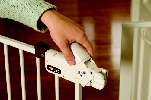 41qlFoGz1YL - Regalo Easy Step Extra Tall Walk Thru Gate, White
