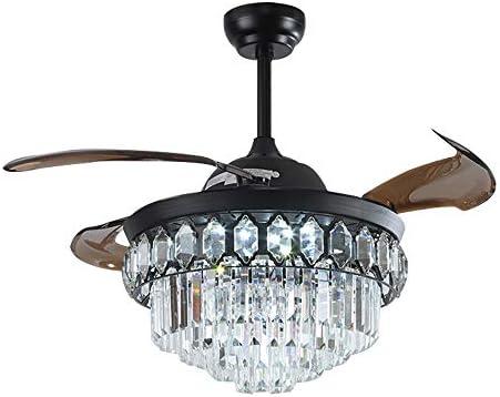 Healer Retractable Crystal Ceiling Fan