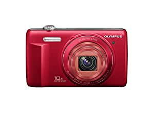 Olympus VR-340 Red 16MP Digital Camera with 10x Optical Zoom (Red)