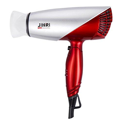 JINRI 1875W Travel Hair Dryer Dual Voltage Blow Dryer Dc Motor Foldable Handle Lightweight Negative Ionic Folding Hair Dryer (Rose Gold) by Jinri (Image #5)