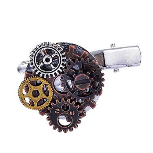 - Gothic Steampunk Gear Hairpin Industrial Stage 5 Style Barrette Pin Jewelry (Item - Gears 2)