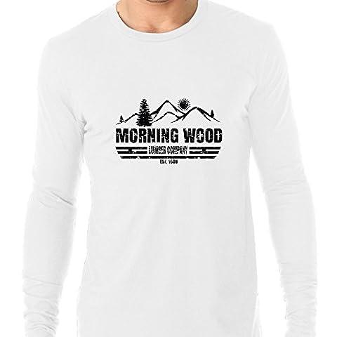 Morning Wood Lumber Company Est. 1969 Men's Long Sleeve T-Shirt - Erectile Dysfunction Cialis