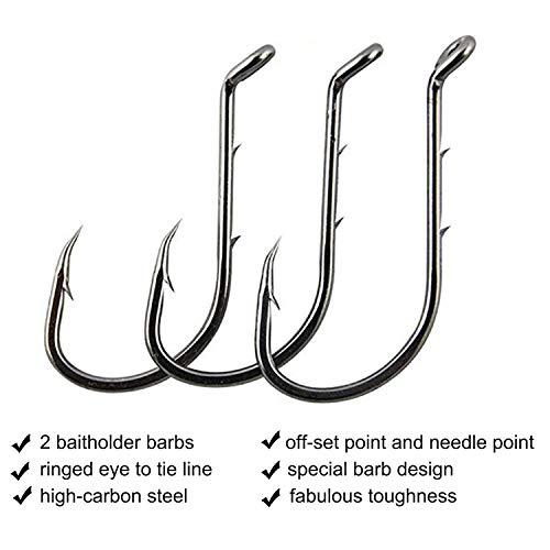 100PCS//Lot  Bait holder Hook Jig Big Fishook High Carbon Steel Sharp Fishhook