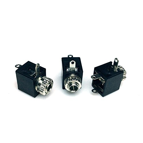 CESS-212 2.5mm Mono TS Female Jack Socket with Switch PCB Panel Mount - 20 PACK