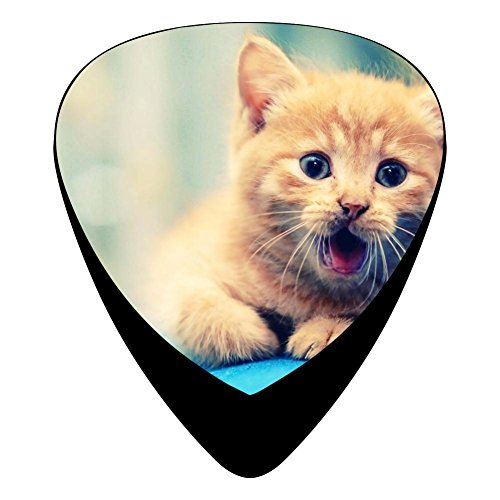 Guitar Picks Celluloid Smile Cat Puppy 12 Pack Shape For Acoustic Guitar Mandolin Electric Guitar And Bass ()
