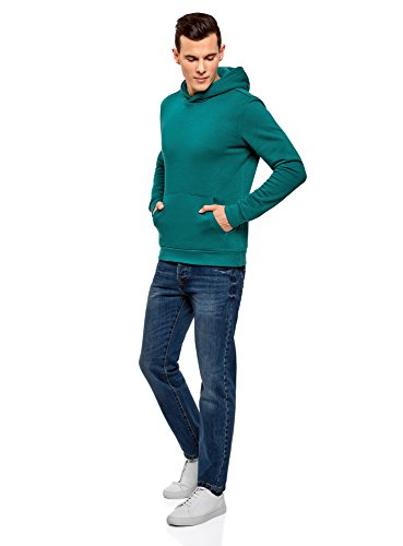 Avec Hoodie Turquoise Ultra Poche Oodji 6d00n Homme Basique pEcIwgBq
