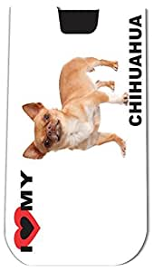 Rikki KnightTM I Love My Brown Chihuahua Dog - Smart Phone Neoprene Protective Pouch for iPhone 4/4s/5/5s/5c, Motorola Moto X, Galaxy S3/S4/Note 3/Ace 2, LG Optimus Gpro/G2/L3/4X HD, Sony Xperia Z1S/U, HTC Droid/One/One X/Pro/mini, Blackberry G10/Z10, Nexu