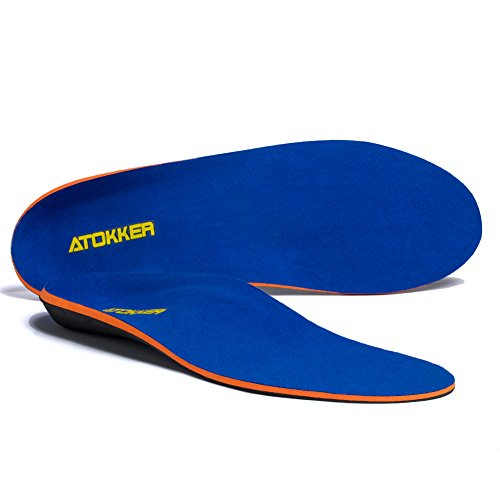 Price comparison product image Orthotic Insoles for Flat Feet, Full Length Arch Support Shoe Insoles for Men and Women - Relieve Foot Pain, Heel Pain and Against Plantar Fasciitis Orthotics (US MENS 12-12.5/ US WOMENS 14-14.5)