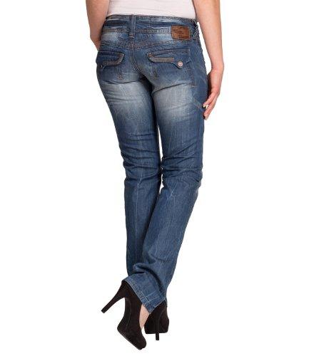 Timezone Textil Damen Jeans 16-5380 BrittTZ Straight 3247 light clear wash Straight Fit (Gerades Bein) Normaler Bund Blau (Light Clear Wash 3247) 161bmW23Aj