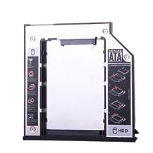 Replacement 9.5mm SATA To SATA 2nd SSD HDD Hard Drive Caddy for Dell E6400 E6500 E6410 E6510 M2400 M4400 M4500