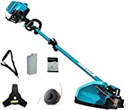 Greenyard 33cc 2 in 1 Extreme Duty 2-Cycle Gas Dual Line Trimmer and Brush Cutter, Grass Trimmer, Weed Eater