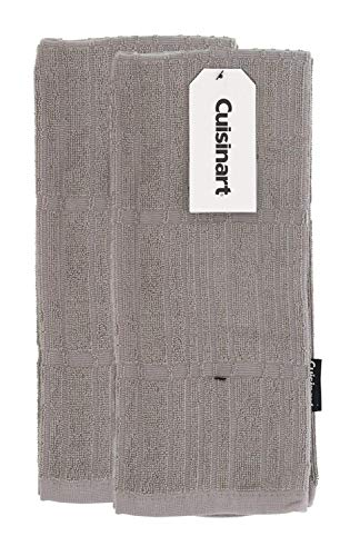 Cuisinart Bamboo Dish Towel Set-Kitchen and Hand Towels for Drying Dishes / Hands - Absorbent, Soft and Anti-Microbial-Premium Bamboo / Cotton Blend, 2 Pack, 16 x 26