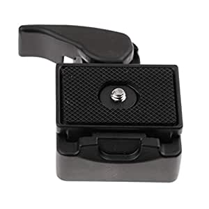 Dolity Universal Camera Seat Quick Release QR Clamp Plate Mount Accessories for DSLR SLR/Tripod - Black