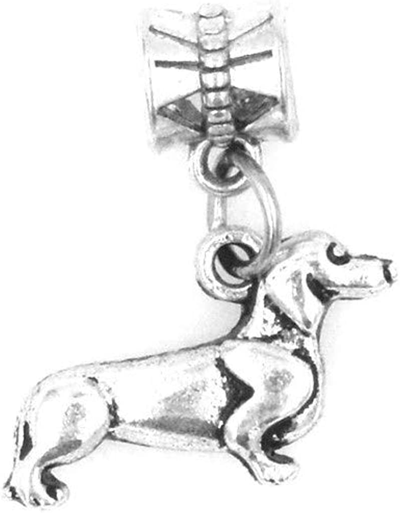 It's All About...You! Dachshund Weiner Dog Dangling European Bead Charm 86K