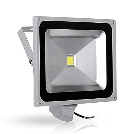 1x Foco Luz LED,50W Sensor de movimiento con Luz inalámbrico para Exteriores incluyendo Patio