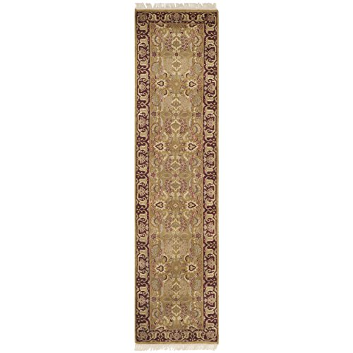 Safavieh Dynasty Collection DY301A Hand-Knotted Gold and Red Premium Wool Runner (2'6