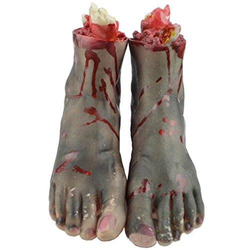 Hatop Halloween Horror Props Bloody Foot Haunted House Party (Bag Of Rice Costume)
