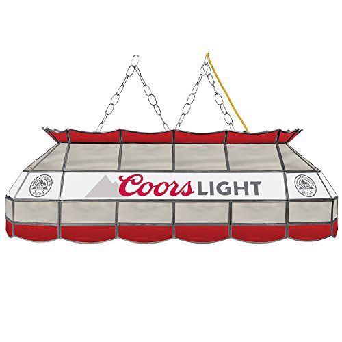 Trademark Gameroom Coors Light Handmade Tiffany Style Lamp - 40 (Coors Light Stained Glass)
