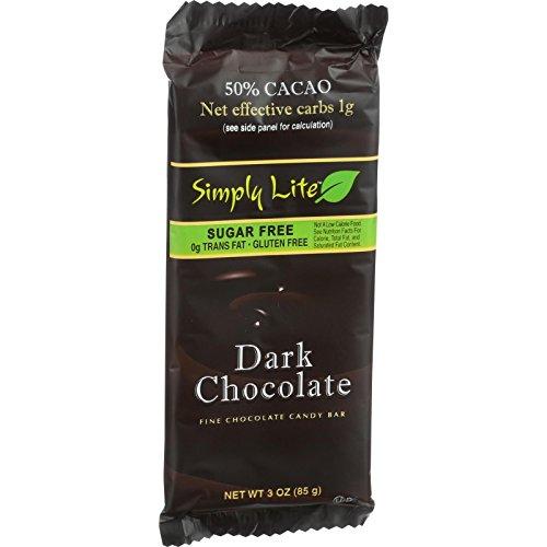 Cheap Simply Lite Chocolate Bar – Dark Chocolate – 50 Percent Cacao – 3 oz – Case of 10