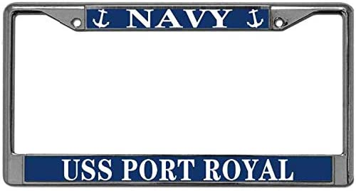 Custom Personalized Navy Blue and Chrome Frame