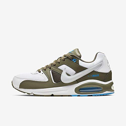 Nike Air Max Command Mens Sneakers 629993-109, White/Pure Platinum, Size US 12