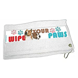 American Staffordshire Terrier Paw Wipe Towel 27