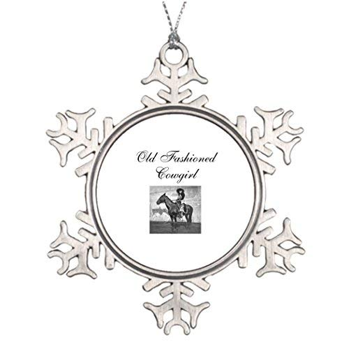 OneMtoss Christmas Snowflake Ornament Xmas Trees Decorated Old Fashioned Cowgirl Decorating Christmas Tree Ideas ()