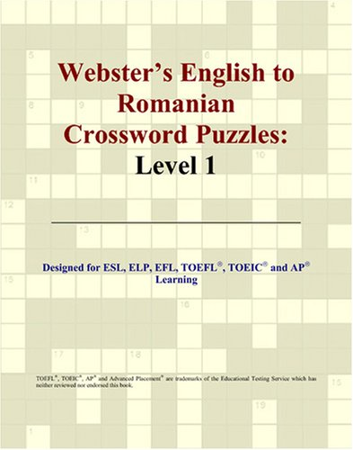 Webster's English to Romanian Crossword Puzzles: Level 1
