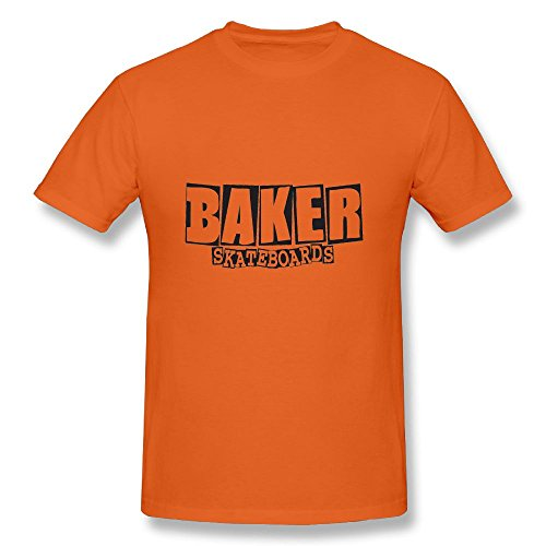 Baker Skateboards T-Shirts Baseball Short Tees Cool Tshirts Orange