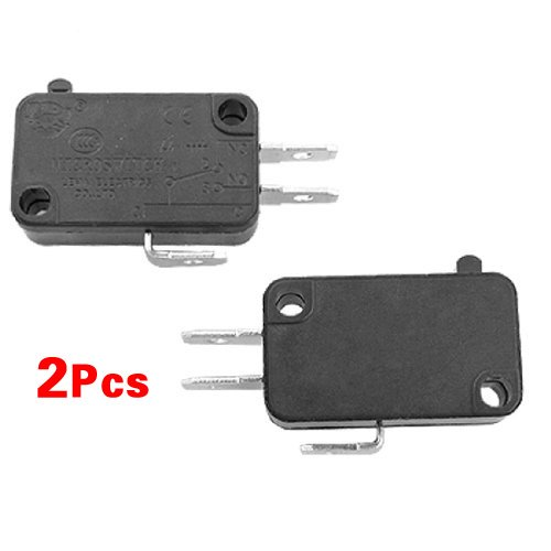 TOOGOO(R) 2 x Micro Interruptor Pulsador Electrico 1NO 1NC Contactos - Negro SODIAL(R) SHOMAGT1055