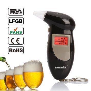Generic Digital LCD Alcohol Breath Tester Breathalyzer An...