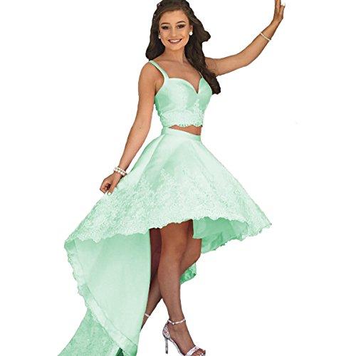 Womens Plus Size Two Piece Dress Green - 8