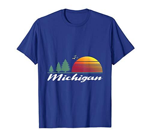 (Michigan Retro Shirt Home State MI)
