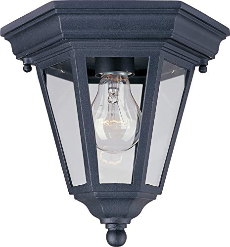 Maxim 1027BK, Westlake Cast, 1-Light Outdoor Ceiling Mount, Black