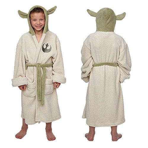 110718f638 Star Wars Yoda Jedi Ears Fleece Bathrobe Kids Robe