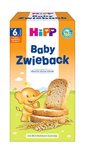 HiPP Knabberprodukte Baby Zwieback, 6er Pack (6 x 100 g) 3555-02