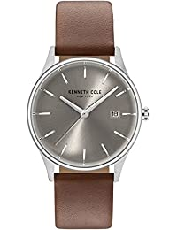 New York Women's Analog Round Watch Brown Leather Strap KC15109005