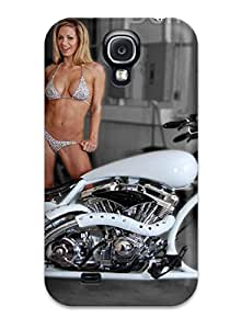 For Galaxy S4 Protector Case Girls And Motorcycles Phone Cover