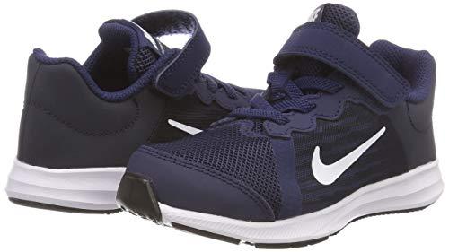 Downshifter Nike Blu 8 psv 400 white midnight Obsidian Navy black dark Scarpe Running Bambino drrYqT
