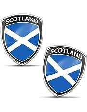 Biomar Labs® 2 x sticker 3D gel siliconen badge stickers auto motorfiets fiets raam deur PC mobiele telefoon tablet laptop Schotland Schotland Schotland vlag vlag F 152