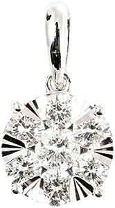Eva Round Shaped Diamond Pendant, White